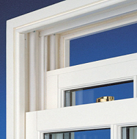 woodgrain upvc sash window