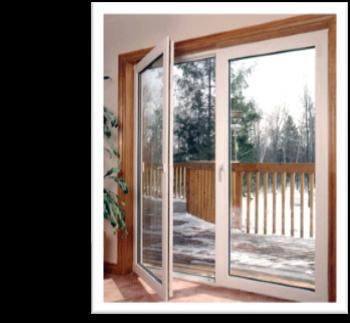 Convert sliding glass door into french doors