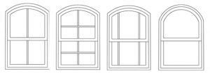 curved head sash wndows
