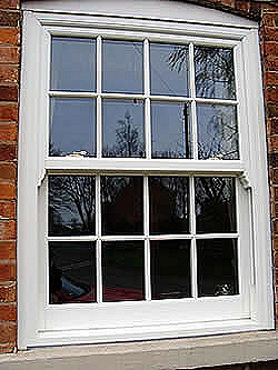 timber box sash windw