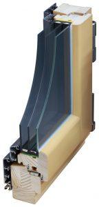 Aluminium Clad Timber Window