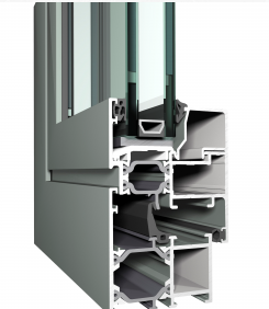 Typical UPVC Double Glazed Window Profile