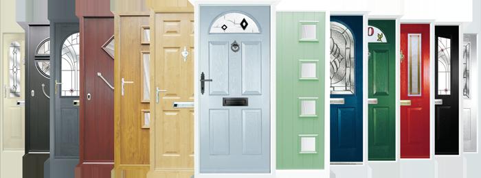 A range of different front door designs
