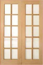 Oak finish French Door