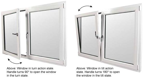 Turn And Tilt Windows : Upvc tilt and turn windows prices